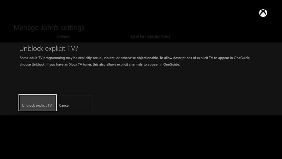 how to turn off web filtering on xbox one